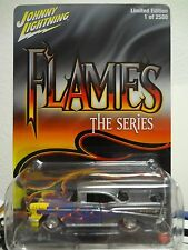 Johnny Lightning 1957 Chevrolet Bel Air Flames 1 of 2500 New on Card 1:64