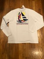 NWT Vineyard Vines Men's LS Geo Sails/Sailing Whale T-Shirt Medium Retail $48