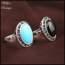 Mixed Metals Stone Statement Fashion Rings