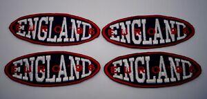 England Euro 96 Football Équipe Coudre Sur Ensemble De 4 Collectionné Rustines