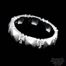 DESIGNER CHRIS CORREIA PLATINUM DIAMOND SUGARLOAF BAND RING .32CT SIZE 5.75