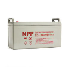 NPP 12V 120 Amp 12 Volt 120Ah Rechargeable Wind Solar Energy Storage AGM Battery