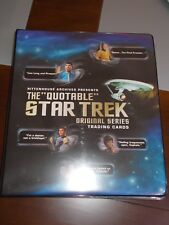 THE QUOTABLE STAR TREK ORIGINAL SERIES MINI MASTER SET RITTENHOUSE TOS 2004