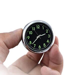 Car Stainless Steel Fluorescent Clock White Dash Mini Quartz Watch Clock UK