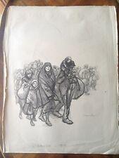 Lithographie Théophile Alexandre STEINLEN (1859-1923) L'Exode 1915 Armenie