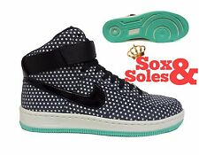 Nike Women's Air Force 1 ULTRA FORCE MID Shoes Black/Sail 654851-011 a1 Sz 10.5