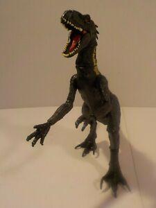 "Jurassic World Park Black Indoraptor Dinosaur 16"" Super poseable Moveable Limbs"