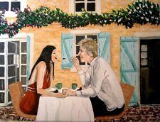 """Spring Tea"", Original Artwork , Acrylic on Canvas 12 x 16 """