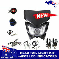 DIRT REC.REG. LIGHTING KIT Yamaha Honda Suzuki Kawasak KTM BLACK HEAD LIGHT
