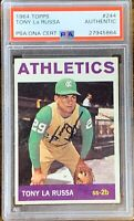 1964 TOPPS Tony La Russa AUTO ROOKIE RC #244 PSA DNA AUTOGRAPH SIGNED Athletics