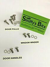 CLASSIC ROVER MINI, INTERIOR HANDLES, DOOR PULLS, WINDOW WINDER SCREWS S/S