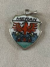 MERAN Silver Travel Shield Enamel Charm