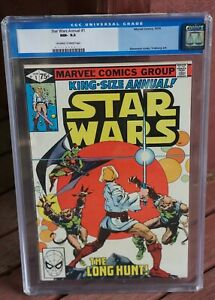 STAR WARS KING-SIZE ANNUAL 1 NM WHITE PAGES 1979 CGC 9.2