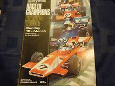 RACE OF CHAMPIONS PROGRAMME 1973 NIKI LAUDA BRM P160 RONNIE PETERSON JAMES HUNT