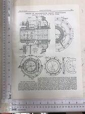 Details Of Marine Steam Turbine Made In Legnano: 1912 Engineering Magazine Print