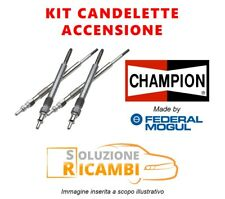 KIT 4 CANDELETTE CHAMPION FIAT GRANDE PUNTO '05-'11 1.9 D Multijet 96 KW 130 CV