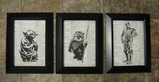 "Star Wars Vintage Dictionary Page Prints - Yoda, R2D2, Ewok - 5"" x 7"" -"
