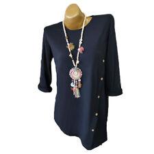Plus Size Women's Loose Long Sleeve Irregular Casual Buttons Tops T-Shirt Blouse