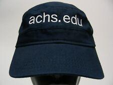 ACHS - AMERICAN COLLEGE OF HEALTHCARE SCIENCES - ADJUSTABLE CADET CAP HAT!