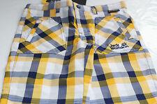 Jack Wolfskin Boy's Navy / Yellow Cube Shorts - Size EU 128 = UK 8/9