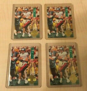LOT of (4) Drew Bledsoe Rookie Card RC 1993 Classic 4 Sport #91 New England