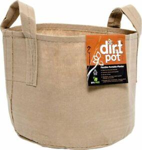 Hydrofarm Dirt Pot with Handle, 100 Gallon, Tan