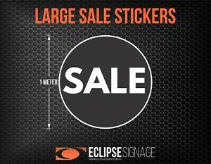 Large Black Promotional Sale Stickers