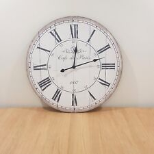 Large 70CM Rustic Wall Clock French Provincial Vintage Neutral