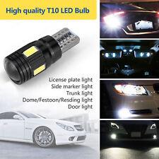 2Pcs White T10 6000K LED Daytime Fog Lights Bulbs License Plate Lamp Waterproof