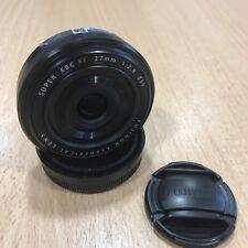 Black Fujifilm Fujinon XF 27mm F/2.8 Aspherical Fuji Pancake Lens X mount used
