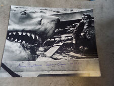 Jaws 1st Victim autographed 16x20 photo Shark on Boat eating Robert Shaw