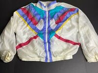 Aviat Sportif Vintage Colorblock XL Winbreaker Jacket 80s Blacklight Neon C57