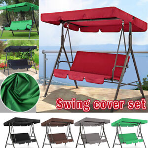 3 Seat Swing Canopies Seat Cushion Cover Set Patio Swing Chair Hammock Replaceme