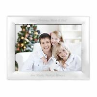 Personalised Engraved Silver Landscape Photo Frame - Perfect for Christmas!