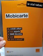 Carte sim prépayée ✅ 4G orange mobicarte + credit sans abonnement pas cher 🇨🇵