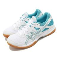Asics Gel-Task 2 White Silver Blue Gum Women Volleyball Shoes 1072A038-102