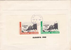 GB LOCAL SANDAY EUROPA MIN SHEET USED ON COVER CAMPBELLTOWN ARGYLL 1963 FD