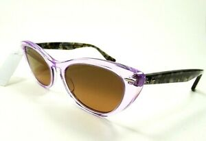 RAY BAN RB 4314-N 1284/43  54-18-140 Violet Frame Brown  Lenses Sunglasses Italy