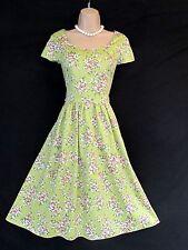 LAURA ASHLEY ENGLISH COUNTRY PINK ROSE POSY 50S VIBE SUMMER BEAUTY DRESS10