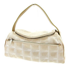 Chanel Pouch Bag Vanity New travel line Beige Silver Woman Authentic Used T3531