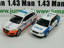 lot 2 X 1/43 IST déagostini POLOGNE Police du Monde AUDI Q7 Audi A6 PM32 49