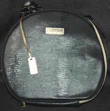 LANCOME Makeup Bag Train Case Makeup Case Organizer Travel Storage Black Round