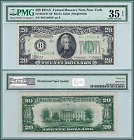 1934A Star $20 New York Federal Reserve Note PMG 35 EPQ Choice Very Fine VF FRN