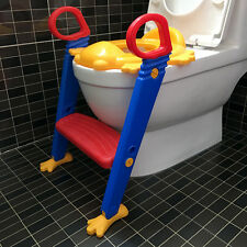 Kids Toilet Potty Trainer Seat Step Up Training Stool Chair Toddler With Ladder
