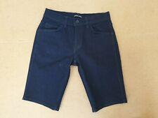 DD741 MENS LEVI'S LINE 8 BLUE STRETCH SLIM STRAIGHT SHORTS UK XS W28 L11