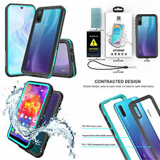 For HUAWEI P40 P30 Mate 30 Pro Shellbox Waterproof Clear Protective Case Cover