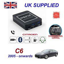 Para Citroen C6 streaming de música Bluetooth teléfono módulo SD AUX CD RD4 Cargador