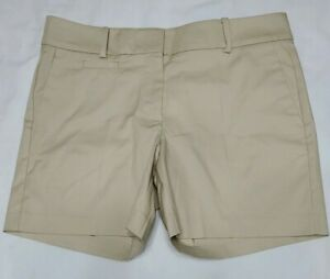 NEW Ann Taylor The Metro Shorts in Khaki Beige Womens Chino Shorts Size 8