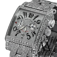 Men's Diamond Franck Muller Luxury Watch Pave Conquistador Cortez 30.00ct