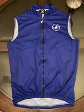 100% Authentic Castelli Cycling Vest Size Medium Blue Royal Made in Italy